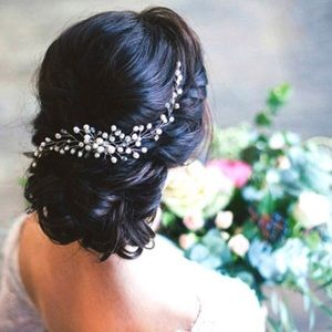 Pearl and Crystal Bridal Hair Comb Wedding Jewelry